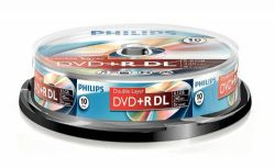 10 Philips DVD+R DUAL LAYER  DVD Discs | Cables 4 ALL